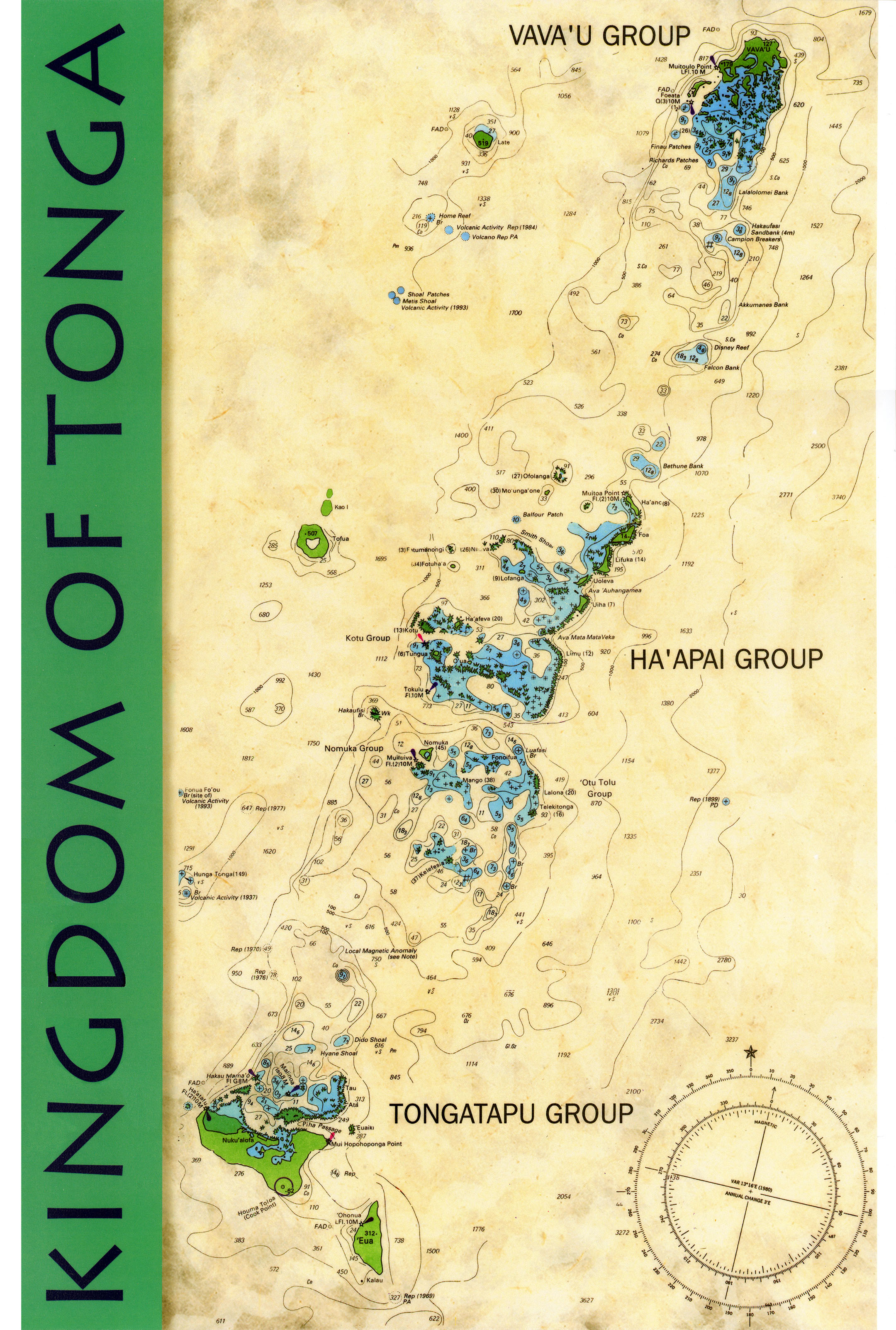 Maps Of Vavau And Surrounding Islands Whales Of Tonga - Tonga map